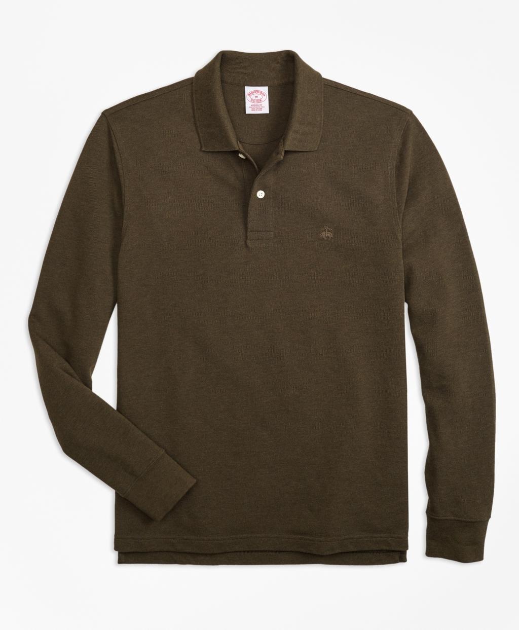Original Fit Supima Long Sleeve Performance Polo Shirt Brooks