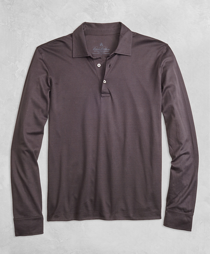 Golden Fleece® Pique Knit Long-Sleeve Polo Shirt