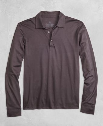 Golden Fleece® Pique Knit Long-Sleeve Polo Shirt
