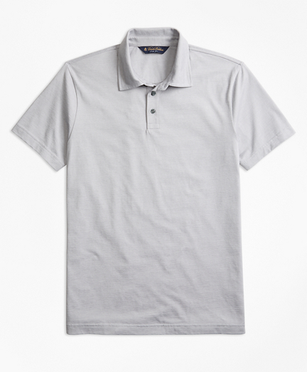 Slim Fit Micro-Feeder Stripe Jersey Polo Shirt