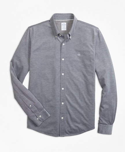 Supima® Button-Down Knit Shirt