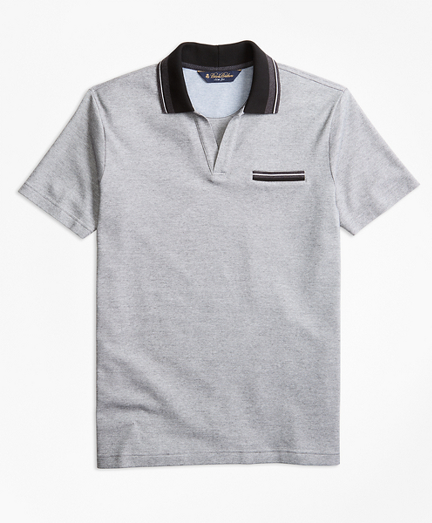 Slim Fit Micro-Bird's-Eye Polo Shirt