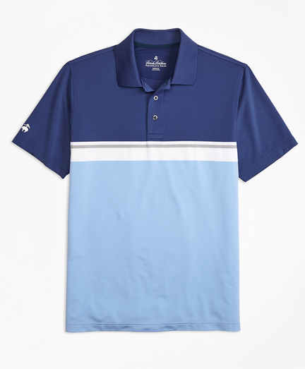 Performance Series Placed Stripe Polo Shirt