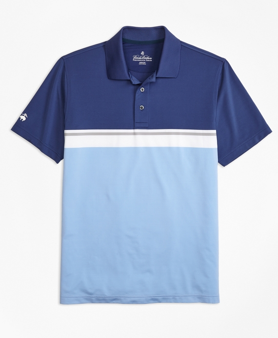 Performance Series Placed Stripe Polo Shirt by Brooks Brothers