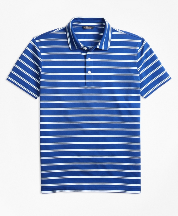 Original Fit Supima® Cotton Stripe Polo Shirt Blue-White
