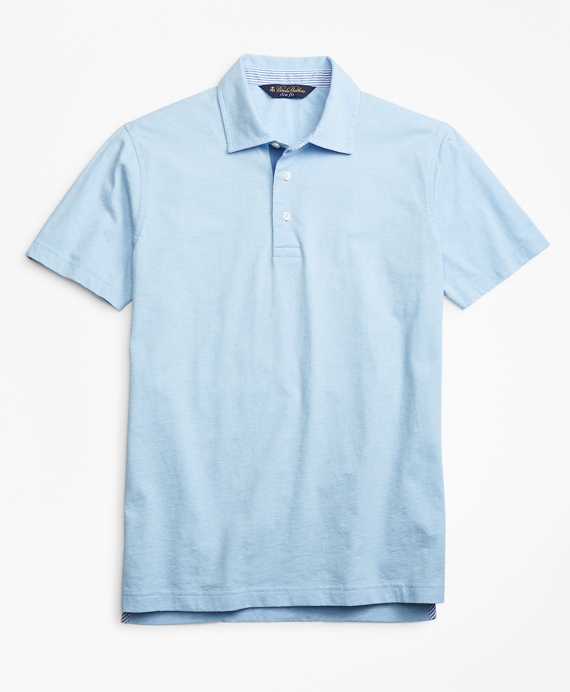 Slim Fit Heathered Polo Shirt Light Blue