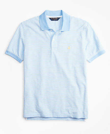 Slim Fit Vintage Stripe Polo Shirt