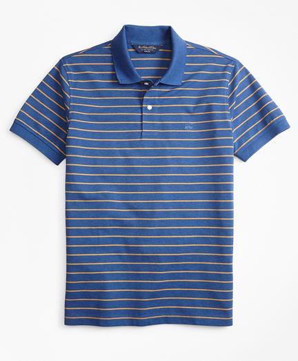Slim Fit Supima® Cotton Stripe Polo Shirt