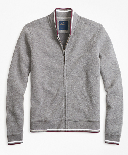 Zip-Front Knit Jacket