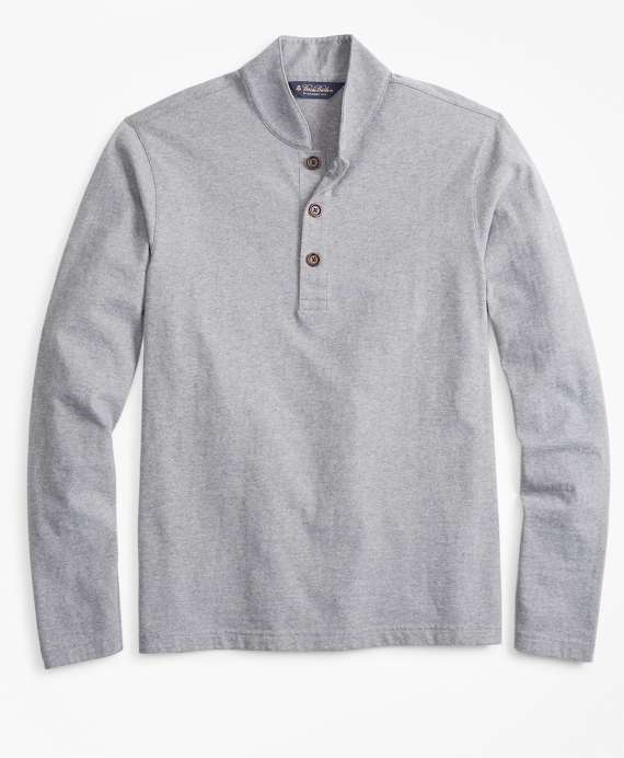 Baseball Collar Henley Grey