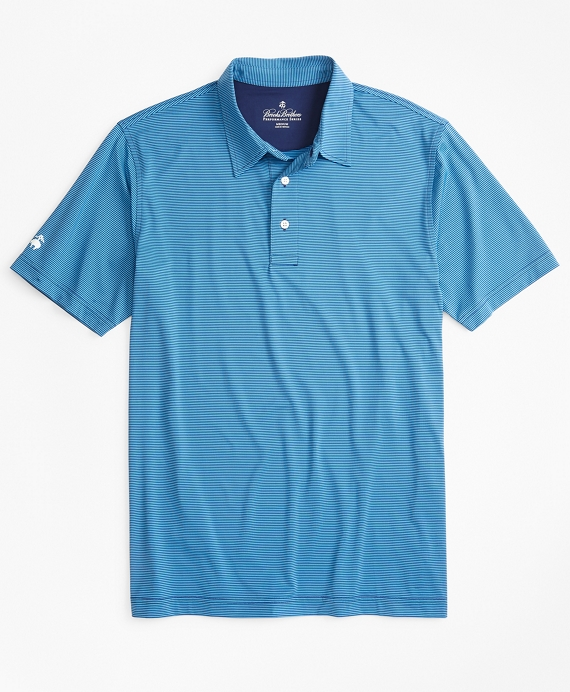 Performance Series Feeder Stripe Polo Shirt Blue-Navy