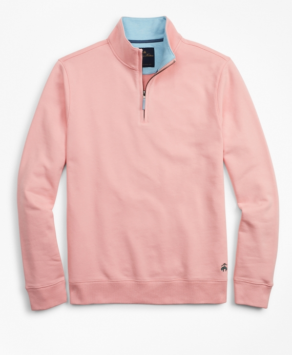 French Terry Half-Zip Light Pink