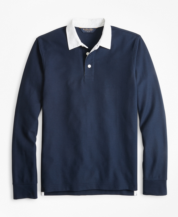 Slim Fit Rugby Shirt Navy
