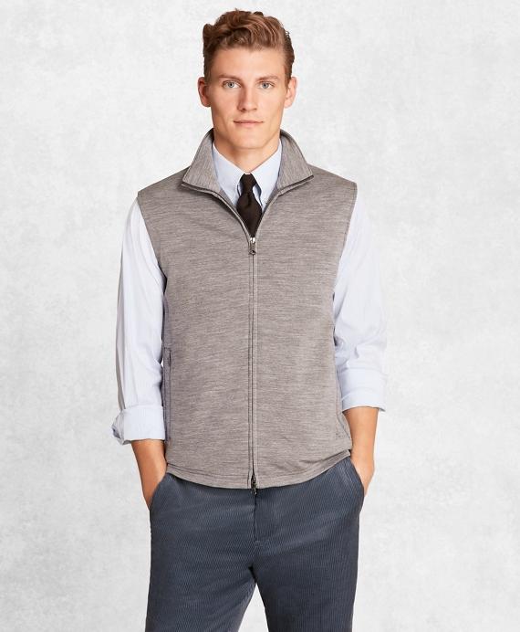 Golden Fleece® BrooksTech™ French Terry Full-Zip Vest Grey