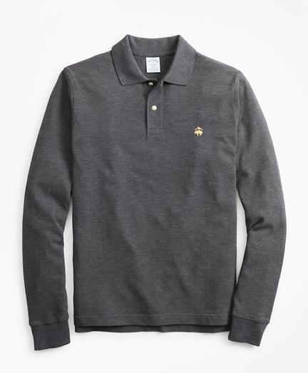 Slim Fit Supima® Long-Sleeve Performance Polo Shirt-Basic Colors