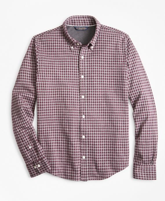 a7e9da1c3 Gingham Button-Down Knit Shirt