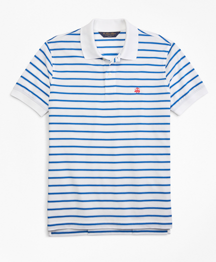 Slim Fit Outlined Stripe Polo Shirt