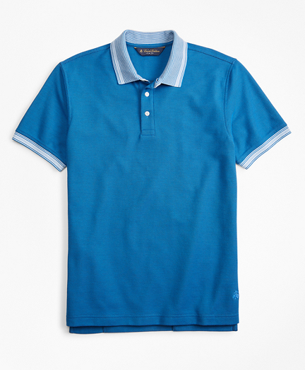 Slim Fit Tipped Collar Polo Shirt