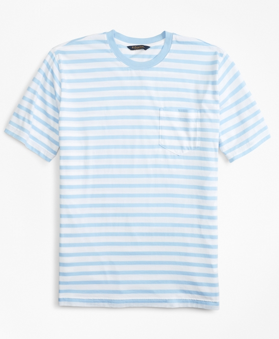 de40fde458c Supima® Cotton Stripe T-Shirt - Brooks Brothers