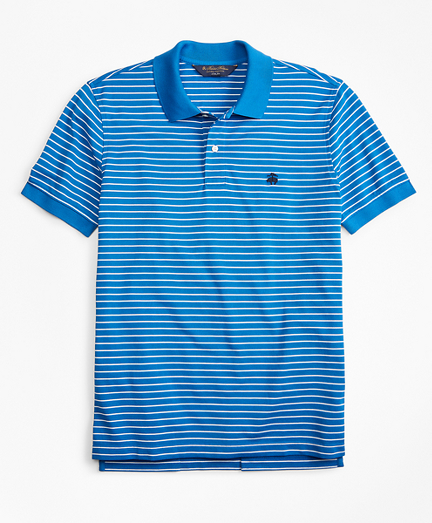 Slim Fit Supima® Stripe Polo Shirt