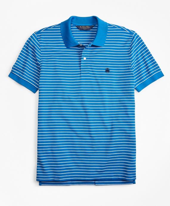 Slim Fit Supima® Stripe Polo Shirt Blue