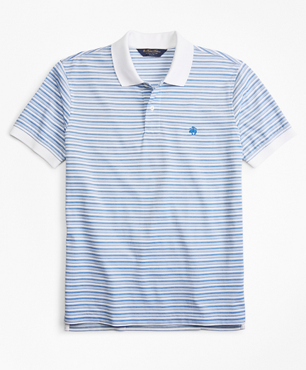 Slim Fit Multi-Stripe Polo Shirt