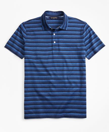 Slim Fit Cotton Jersey Stripe Polo Shirt