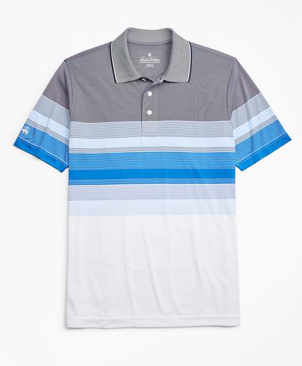 Performance Series Gradient Stripe Polo Shirt