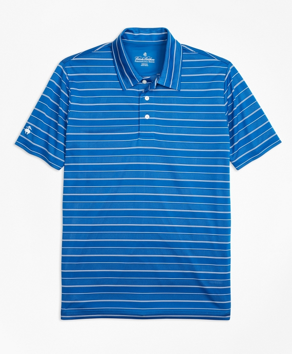 Performance Series Bird's-Eye Stripe Polo Shirt Blue