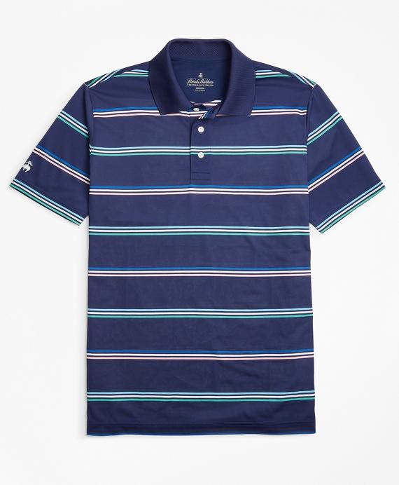 Performance Series Fun Stripe Polo Shirt Navy