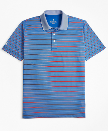 Performance Series Bold Bird's-Eye  Stripe Polo Shirt