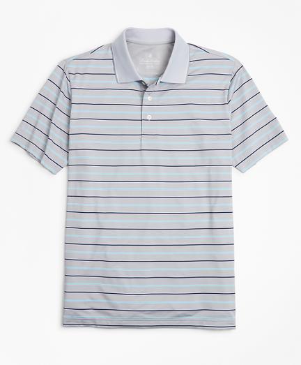 Performance Series Bold Bird's-Eye  Stripe Polo Shirt