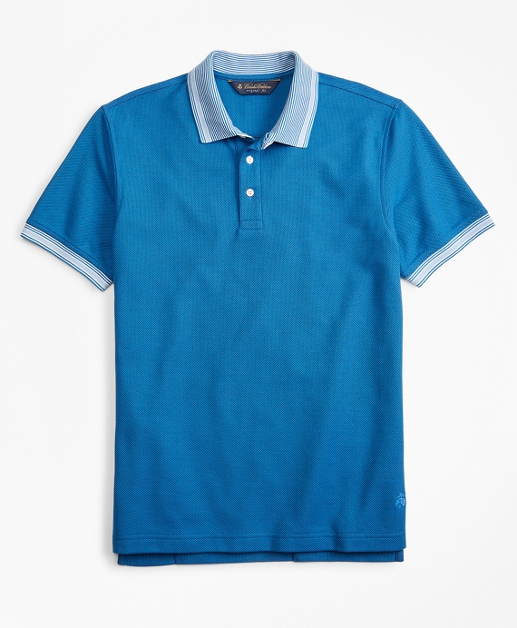 Original Fit Tipped Collar Polo Shirt Bright Blue