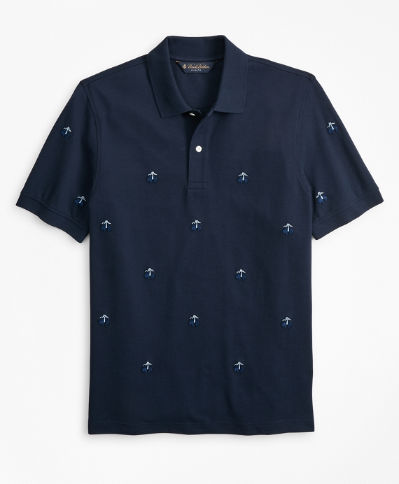 Slim Fit Embroidered Golden Fleece® Polo Shirt Navy
