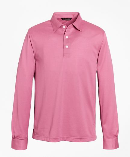Premium Extra-Fine Supima® Cotton Pique Long-Sleeve Polo Shirt