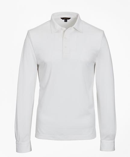 Premium Extra-Fine Supima® Cotton Pique Long-Sleeve Polo