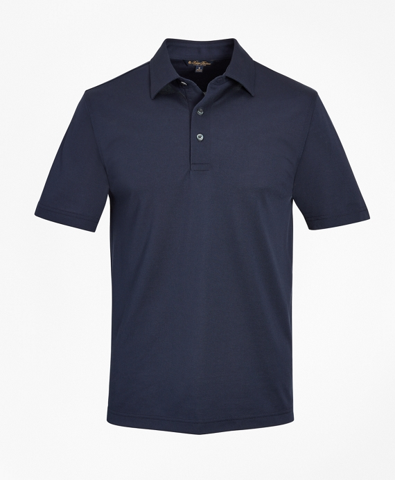 Tailored Lightweight Supima® Cotton Pique Polo Shirt by Brooks Brothers