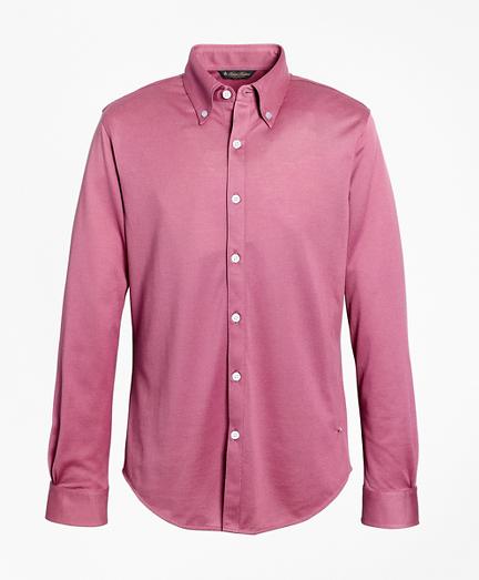 Premium Extra-Fine Supima® Cotton Pique Button-Down Shirt