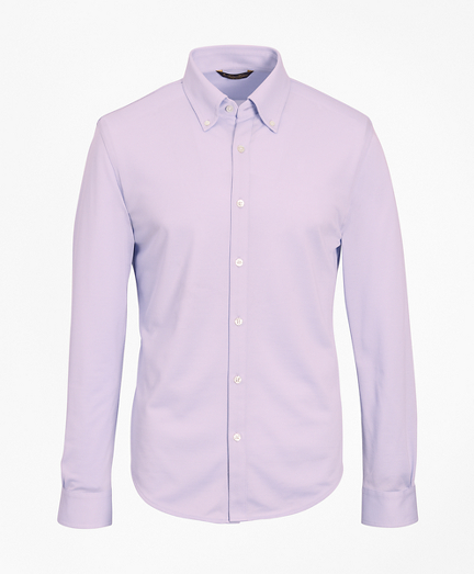 Premium Extra-Fine Supima® Cotton Pique Button-Down Shirt