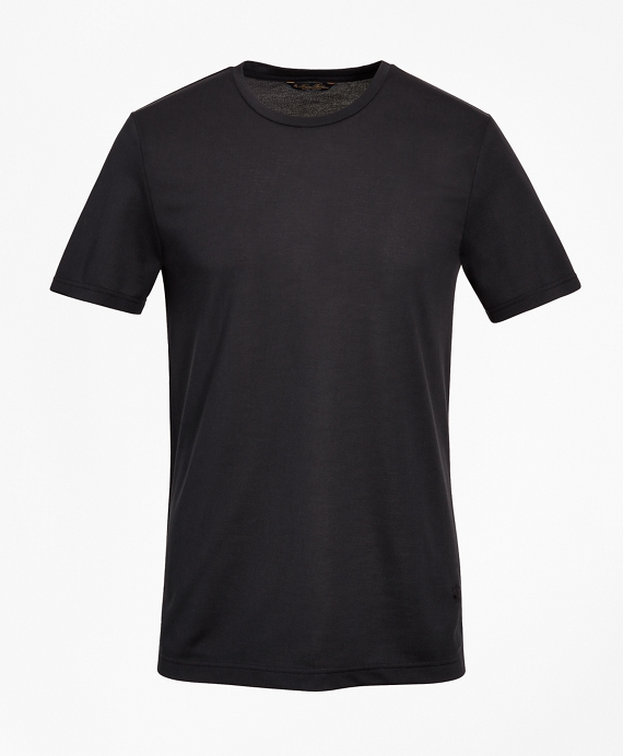 Premium Extra-Fine Supima® Cotton Pique T-Shirt BLACK