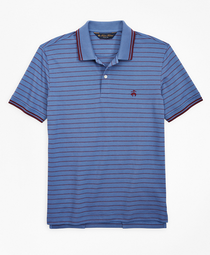 Slim Fit Jacquard Stripe Polo Shirt