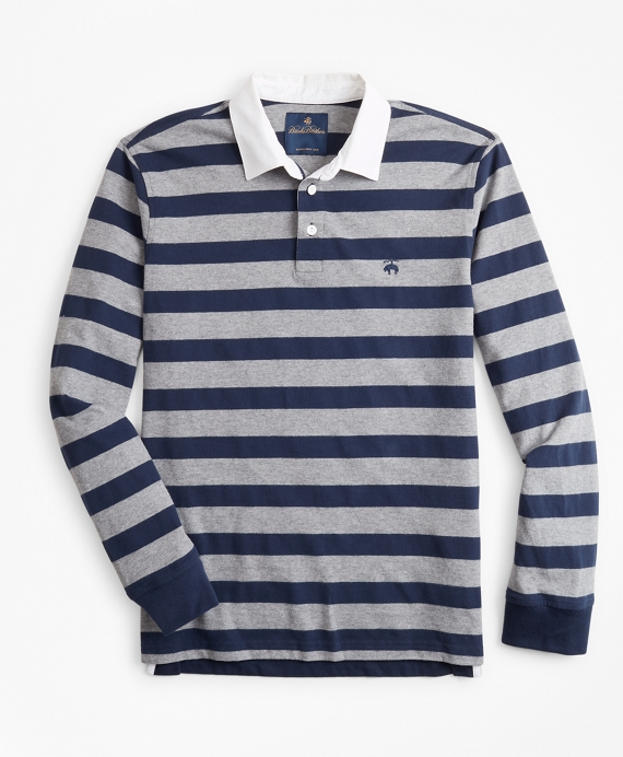 Stripe Rugby Shirt Grey