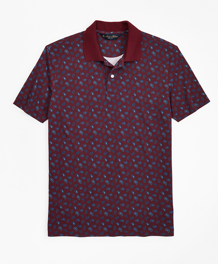 Slim Fit Printed Paisley Polo Shirt