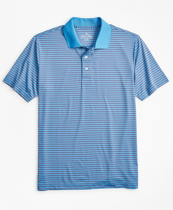 Performance Series Feeder Stripe Polo Shirt Blue