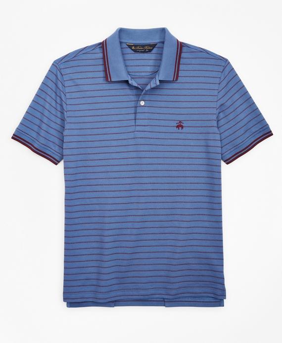 Original Fit Jacquard Stripe Polo Shirt Blue