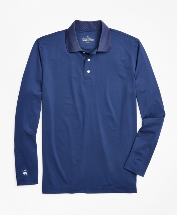 Performance Series Long Sleeve Polo Shirt by Brooks Brothers