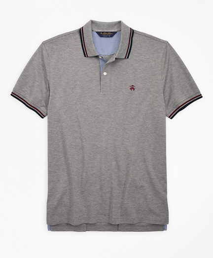 Original Fit Stripe Trim Polo Shirt