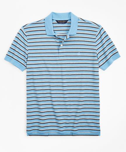 Original Fit Heathered Stripe Polo Shirt