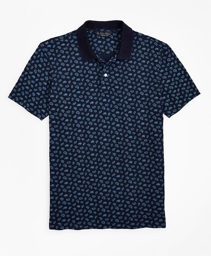 Original Fit Indigo Printed Paisley Polo Shirt