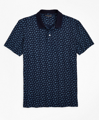 Original Fit Indigo Printed Paisley Polo Shirt